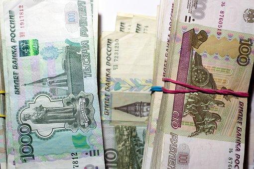 Ruble, Money, Bills, Russian, Tutus, Bank, Crisis