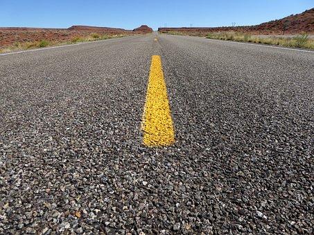 Usa, Highway, Road, Central Reservation, Asphalt