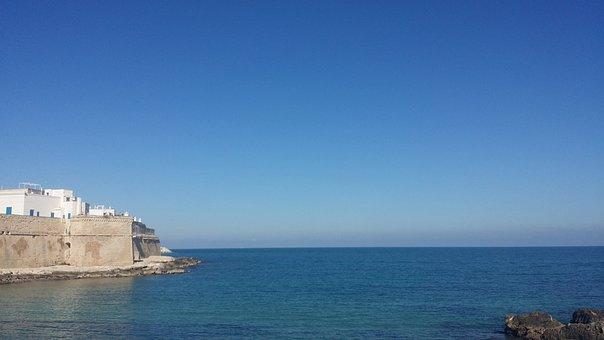 Sea, Monopoli, Puglia, Sky, Horizon, Landscape, Water