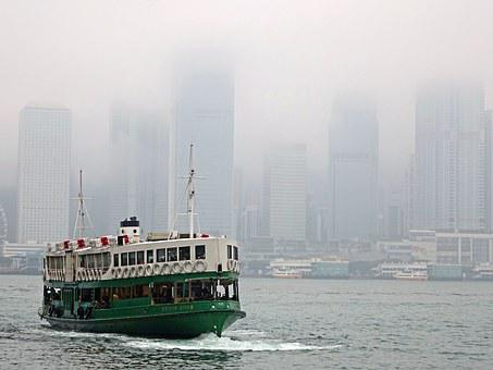 Victoria Harbour, Ferry, Waterfront, Hongkong