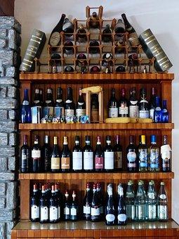 Wine Rack, Wine, Shelf, Wine Bottles