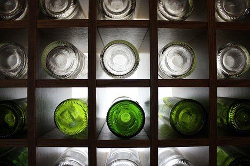 Bottles, Wine Bottle Holder, Glass, Bottle, Wine