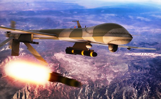 Drone, Missile, Military, Attack, Strike, Uav, Aircraft