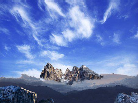 Sky, Landscape, Clouds, Nature, Mountains, Awesome