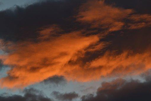 Cloud Clouds, Color Colors, Orange, Blue, Black, Sky