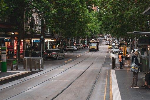 Collins Street, Melbourne, Cbd, Tram, Australia, City