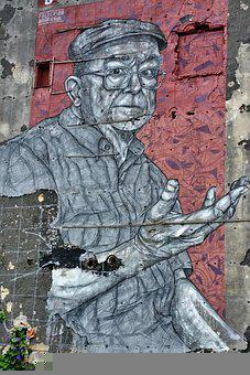 Street Art, Man, Road, Culture, City, Artists, Wall