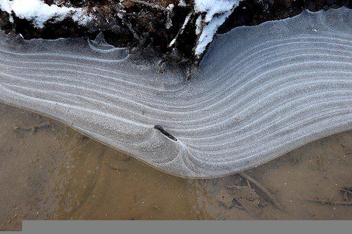 Ice, Frozen, Cold, Puddle, Artistic, Light, Frost