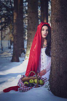 Tale, Girl, Wolf, Forest, Mystical, Fairytale, Cape