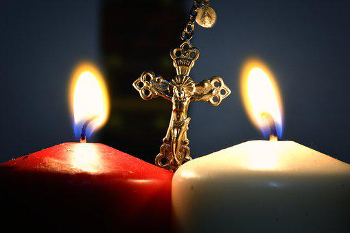 Jesus, Candles, Cruz, Christ, Religion, Faith, Cult