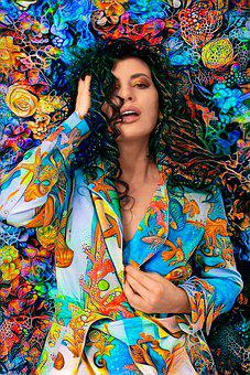 Woman, Deepdream, Model, Flowers, Fashion, Garden