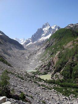 Sea Ice, Alps, Glacier, Glacial Lake