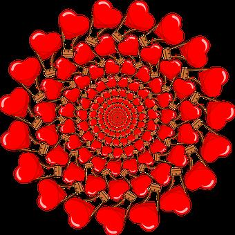Couple, Hot Air Balloon, Vortex, Romantic, Hearts