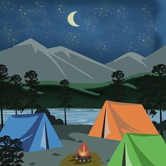 Tent, Camp, Adventure, Nature, Night, Holiday, Stars
