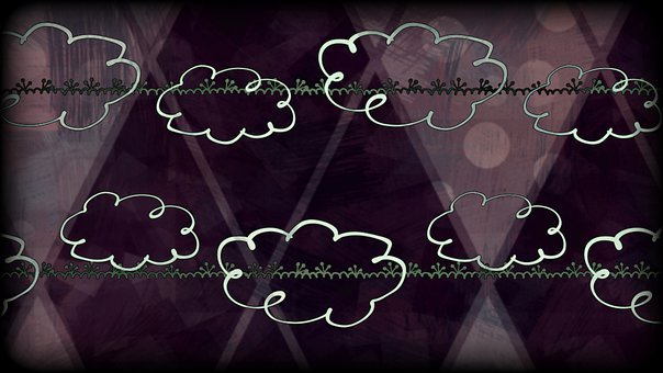 Clouds, Sky, Celestial, Dreamy, Hovering, Neon