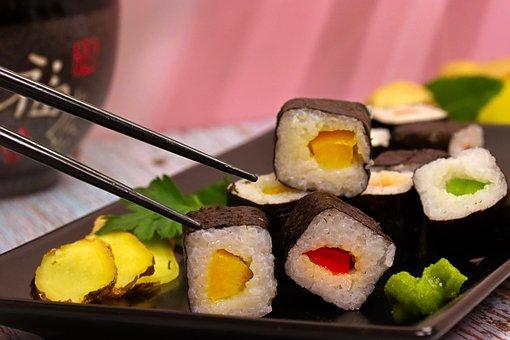 Sushi, Delicious, Vegan, Japan, Japanese, Food, Rice