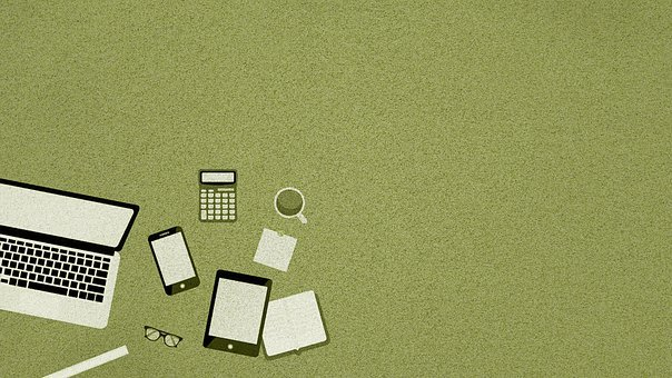 Devices, Background, Copy Space, Laptop, Mobile Phone
