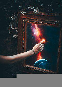Hand, Magic, Portrait, Planet, Cosmos, Star, Light