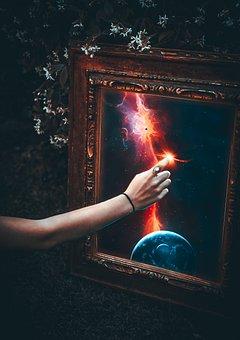 Hand, Magic, Portrait, Planet, Cosmos, Star, Light