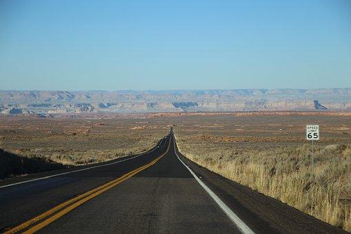 Road, Field, Mountains, Sky, Skyline
