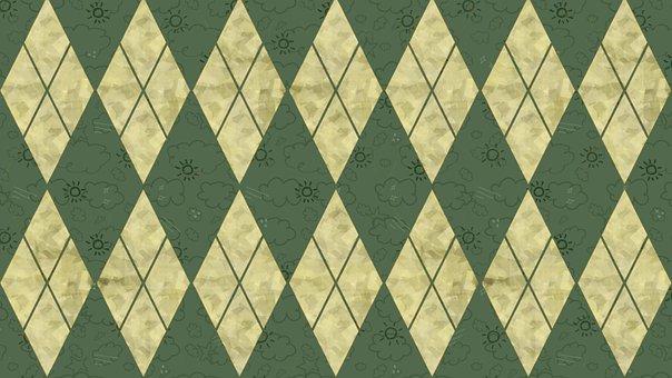 Rhomboid, Rhombus, Checkered, Mosaic, Argyle, Elegant