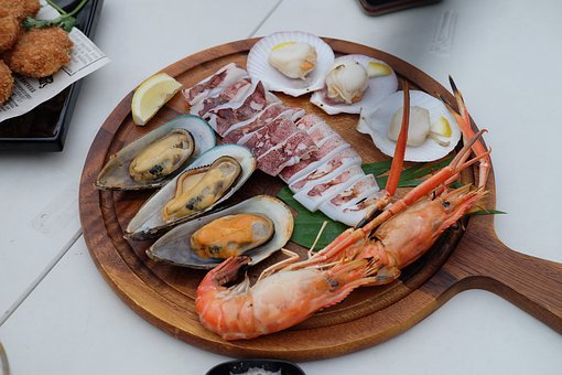 Seafood, Food, Mussels, Clams, Squid, Shrimp