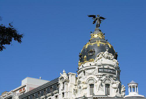 Architecture, Sculpture, Spain, Madrid, Dome, Well