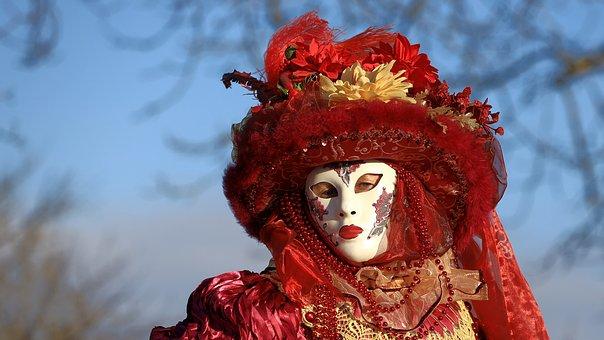 Mask, Venezia, Carneval, Masquerade, Headdress, Hide