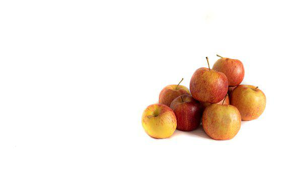 Apple, Fruit, Red, White Background, Food, Apples