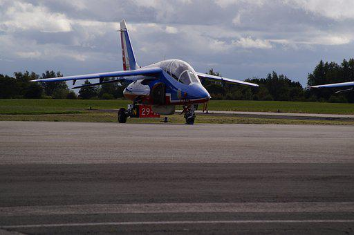 Aircraft, France, Sky, Flight, Alphajet, Military