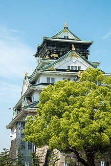 Osaka, Japan, Castle, City, Japanese, Architecture