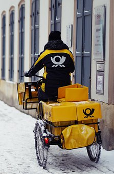 Bicycle, Delivery, Snow, Winter, Bike, Mail, Letters