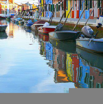 Boats, Colors, Water, Reflections, Boat, Blue, Port