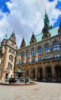Hamburg, City, Building, Architecture