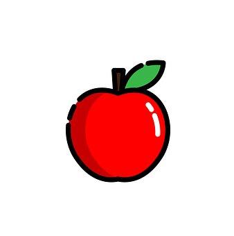 Apple, Fruit, Icon, Red Apple, Food, Cartoon