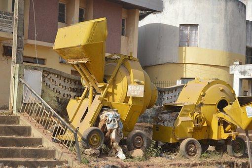 Machine, Construction, Yellow, Heavy, Caterpillar