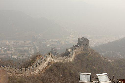 Great Wall, China, Mountain, Landscape, Asia, Mountains