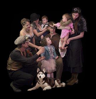 Steampunk, Theatre, People, Cinema, Game, Kids