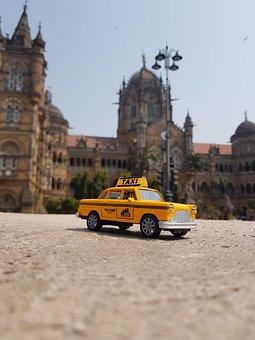 Taxi, Cab, City, Urban, Transport, Transportation