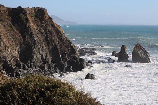 Cliff, Coast, Sea, Sea Foam, Ocean Foam, Ocean, Water