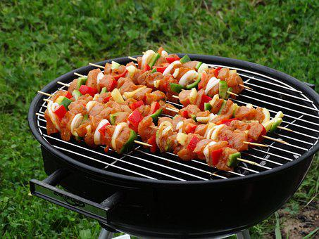 Skewers, Food, Grill, Barbecue, Cooking, Grilling, Meat