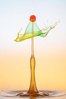 Water, Drop Of Water, Drops Photography, Colorful, Drip