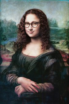 Mona Lisa, Glasses, Portrait, Eyeglasses, Woman, Smile
