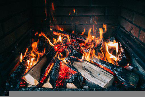 Fireplace, Firewood, Fire, Burning, Hot, Flames, Warmth
