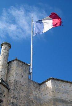 French Flag, La Rochelle, France, Drapeau Français