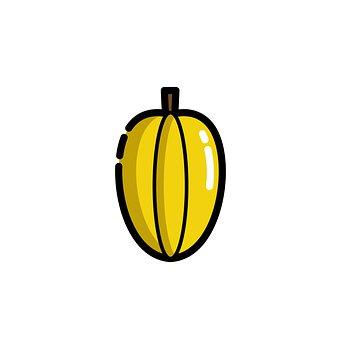 Starfruit, Fruit, Icon, Yellow Starfruit, Food