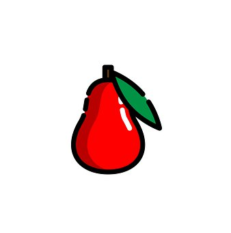 Water Apple, Fruit, Icon, Red Water Apple, Food