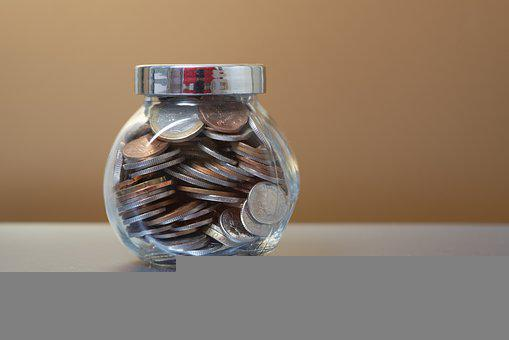 Savings, Jar, Coins, Money, Investment, Isolated