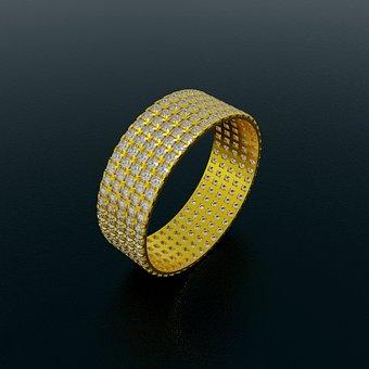 Ring, Gold, Wedding, Jewelry, Diamond, Romantic