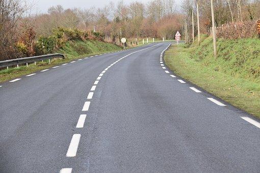 Road, Departmental, Marking, Traffic Way